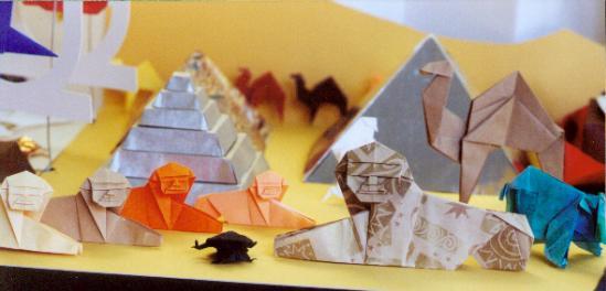 Оригами сфинкса 114